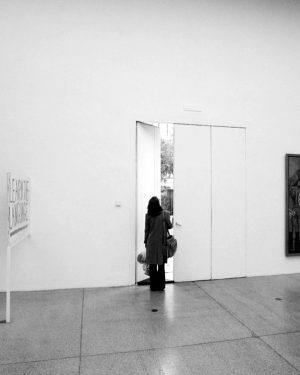 Secession, Vienna window, opening the backdoor, 2003, steel, perspex (Wiener) Kletterstange, 2003, powdercoated ...
