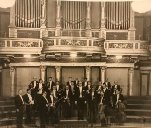 The Strauss Capelle Vienna during their debut concert in the legendary golden hall ...