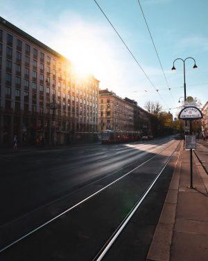 "Sunset boulevard ""Ringstraße"" with a sun-kissed @wienerstaatsoper 🇦🇹❤️"