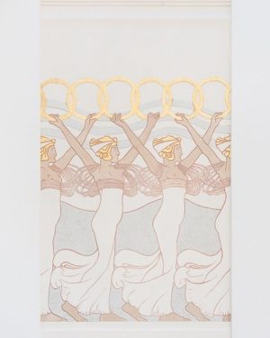"Today's theme is ""Dancing"" - have you seen the partial reconstruction of Koloman Moser's Reigen der Kranzträgerinnen..."