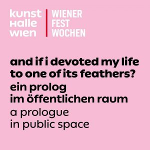 And if I devoted my life to one of its feathers? A Prologue in Public Space ⁣...