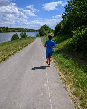 Yesterday at #donauinsel during #wingsforlifeworldrun. . . Managed to run 41.5k in 3hrs04min before the virtual catcher...
