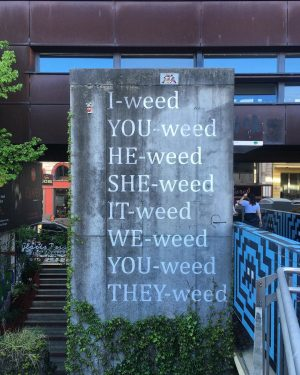 I-WEED⁣ YOU-WEED⁣ WE-WEED 💚 MQ – MuseumsQuartier Wien
