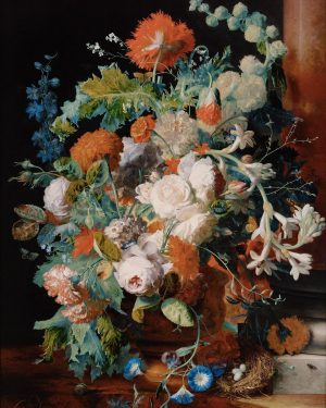 Happy #MothersDay with a bouquet of flowers by Jan van Huysum. 🌺 Although this bouquet of flowers...