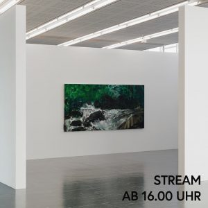 Betrachtet mit uns ein Gemälde von Herbert Brandl, das den steirischen Bach Schwarze ...