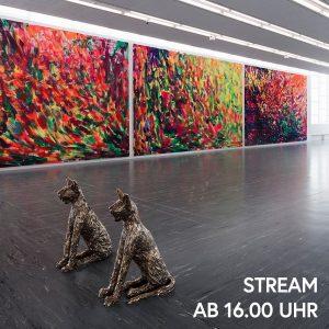 Betrachtet mit uns um 16.00 Uhr eine monumentale neue Arbeit von Herbert Brandl, ...