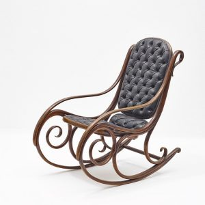 Gebrüder Thonet's first rocking chair was produced in solid bent wood in 1860. ...