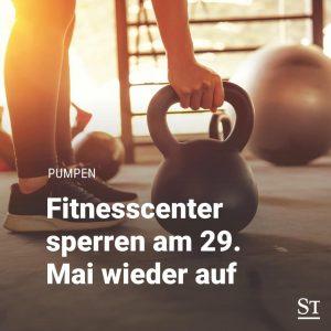 Fitnesscenter werden nun doch schon am 29. Mai beim nächsten Öffnungsschritt dabei sein, meinte Anschober heute in...