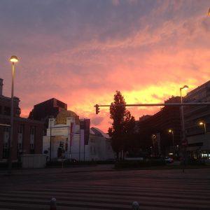 Sunset...19.05.2020 #shotoniphone #sunset #wienersecession #akademiederbildendenkünstewien #viennasecession