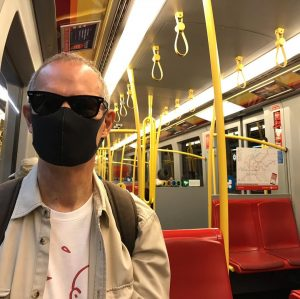 Last Sunday: First trip on the U-Bahn in Vienna for 2 months. Face masks obligatory. #Austria #Wien...