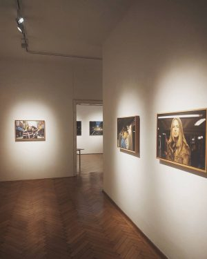 Come and visit our beautiful Exhibition- Yigal Ozeri My new home We are open this Friday noon...