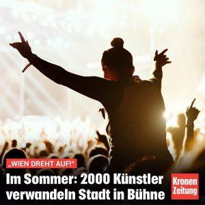 """Mit dem """"Kultursommer 2020"""" wird die ganze Stadt zur Bühne: 2000 Künstler mit 800 """"Acts"""" auf rund..."""