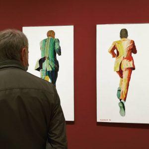 Robert Klemmer's 'Running Klemmer' (1969) at Albertina Modern. Austrian painter (1938-1971). #robertklemmer #popart #albertinamodern #contemporary #contemporaryart #modernartmuseum...