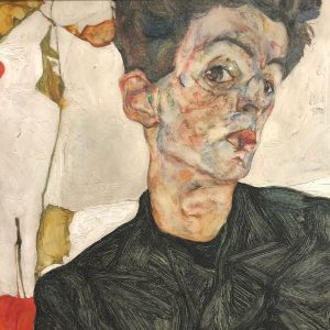 Self-Portrait with Physalis (1912) by Egon Schiele Each line has found its continuation ...