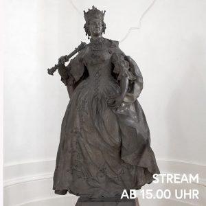 Die menschengroße Statue der Maria Theresia empfängt den Besucher in der Sala terrena des Oberen Belvedere. Sie...