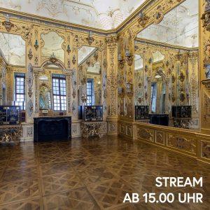 Blickt mit uns in die unendliche Flucht des Goldkabinetts im Unteren Belvedere. Maria Theresia ließ diesen Raum...