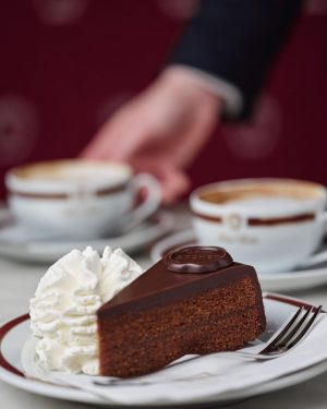 Sweeten your Monday with the Original Sacher-Torte in one of our Sacher Cafés ...