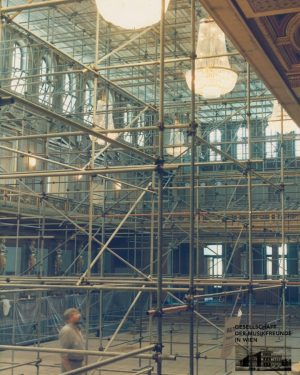 #150yearsofMusikverein #10 The Golden Hall during restoration in 1986/87. The Great Hall is being restored in close...