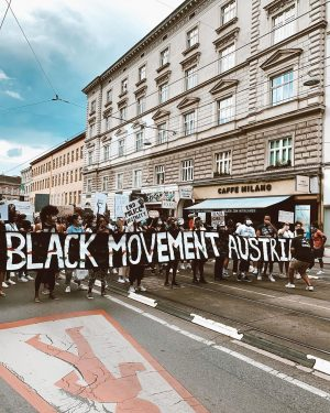 what a feeling 🖤 #blacklivesmatter #blackmovementaustria #nojusticenopeace