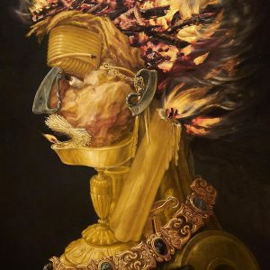 Fire (1566) Giuseppe #Arcimboldo was an Italian Renaissance painter known for his intricate paintings, which combined inanimate...