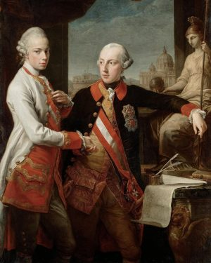 Kaiser Joseph II. (1741-1790) und Großherzog Pietro Leopold von Toskana (1747-1792); Gemälde datiert ...