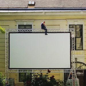 Aufbau @dotdotdot.film.festival 😍🎬 Volkskundemuseum Wien