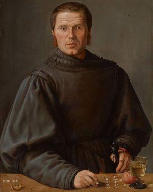 Barthel Beham (1502-40, Niemcy) PORTRET MATEMATYKA (Bildnis eines Rechenmeisters [Portrait of a mathematician]) 1529, olej/deska, 84,8 ×...