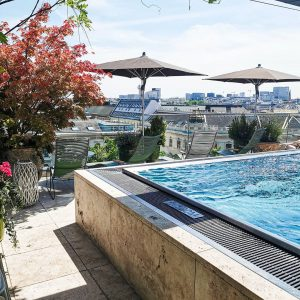 Stay cool at the pool. Summer in the city can be so refreshing ...