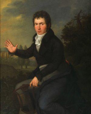 Warum hatte Ludwig eine schlampige Frisur? Auf dem bedeutenden Beethoven-Gemälde von Joseph Willibrord ...