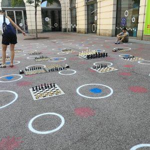 #schach #flashmob #schachflashmob für #frauen MQ – MuseumsQuartier Wien