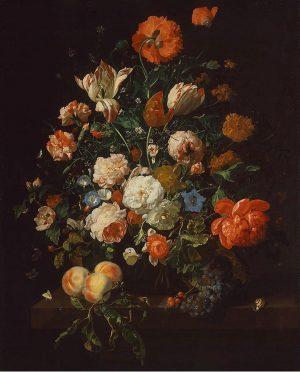 Piece #20: Flowers in a Glass Vase Artist: Rachel Ruysch Year: 1704 Art Era: Baroque Art Style:...