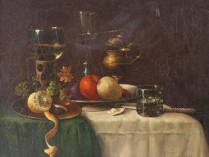 Still Life 🍊 F. Oskar Knapp's 'Rich Still Life with Fruit' will be auctioned online on 17...