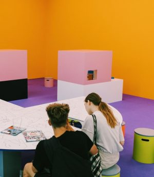 When visiting mumok, make sure to head to level 4 to check out the Art Education Area...