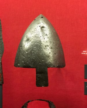 [34/39] . Nasalhelm Moravia, 11th century . The conical shape of the helmet with the fixed nasal...