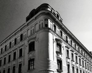 One of the many beautiful buildings in Vienna, this one in our neighbourhood 4/10 of the b/w...