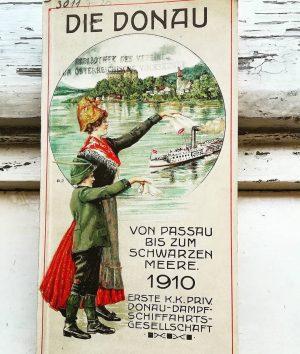 Aus unserer Bibliothek! ☺️🚢 Signatur: 3011 F:20 Erste Donau-Dampfschiffahrts-Gesellschaft (Hg.), Die Donau von Passau bis zum Schwarzen...