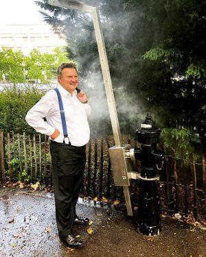 Wien macht im Sommer Bürgermeister noch cooler💦🌞 Erfrischender Zwischenstopp am Weg zu meinem Termin mit 🎤🎧 @radio.arabella...