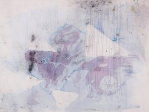 Aquarelle💜 Norbert Prangenberg, Untitled. #NorbertPrangenberg (1949 - 2012) was a German #painter, graphic artist, #sculptor and glass...