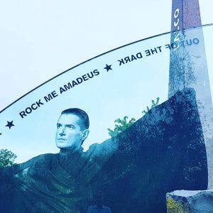 LIVE FROM VIENNA: Falco's grave at Zentralfriedhof... . . . #keepdistance #augustinvienna #zentralfriedhofwien #centralcemeteryvienna #führungenwien #visitvienna #visitaustria...