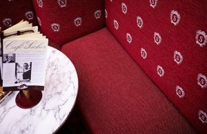 Café Sacher, an icon of the Viennese coffee culture chose Backhausen for its custom-made interior fabrics. #Backhausen...