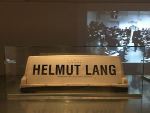 Helmut Lang taxi ad 🚖 at Helmut Lang Archive MAK - Museum of Applied Arts