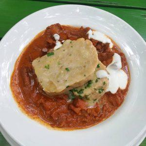 😋💖 #lunch 💖😋 #eierschwammerlgulasch #mittagessen #food #foodporn #foodpics #foodlover #ichliebegutesessen #essenmachtglücklich #glacisbeisl #restaurant ...