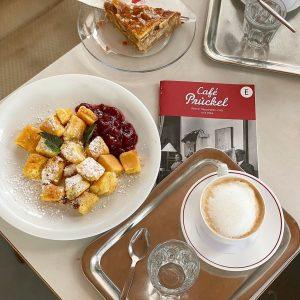[#Vienna #cafeprückel #austrianfood] Vienna is famous for it's beautiful cafés. Some, like Café Prückel, are better places...