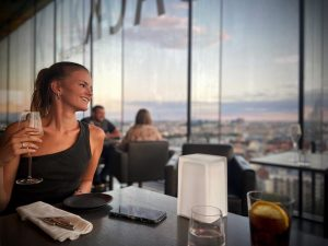 A drink with that view is always a good idea 🥂 SO/ VIENNA