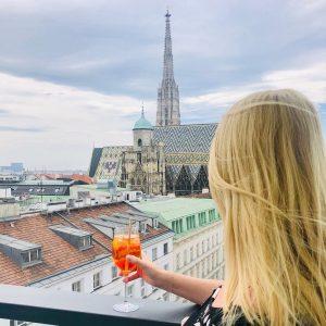 Oh, du schönes #wien #vienna @lameerooftop #photooftheday #aperolspritz #love #igersvienna #austria #ausflug #sunday #happy #ersterbezirk LAMÉE ROOFTOP