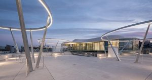 Today the new terrace on the roof of the Leopold Museum opens with an iconic light installation...