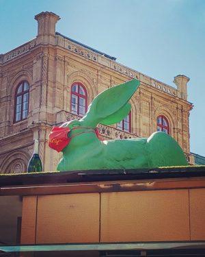 Facemask Bunny 🐰😷 #facemask #facemasktime #bunny #rabbit #rabbitsofinstagram 🐇💚 #hase #mundnasenmaske #albertina #vienna #wien #2020 #oesterreich #österreich...