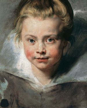 This is our favourite example ever of an artist expressing love and intimacy in a child portrait....