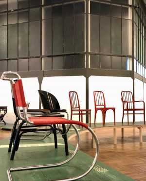 Tubular Steel and Bentwood Thonet Chairs from the 1930s. . . . Exhibition ...