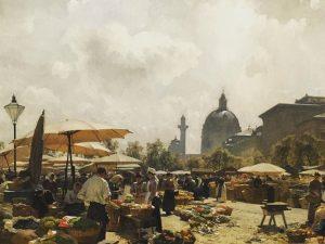 Carl Moll / Der Naschmarkt in Wien 1894 🕌🎟🎨 #belvedere #naschmarkt #karlsplatz #karlskirche #carlmoll Belvedere Museum